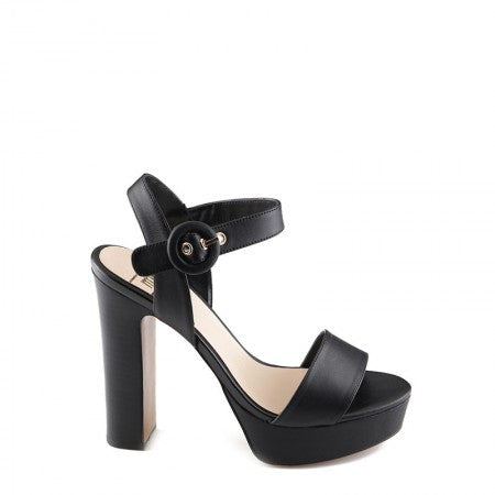 RMK Tiane Black Leather Heels