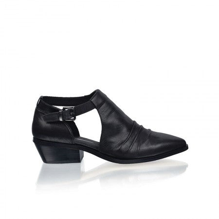 RMK Regent Black Nappa Leather Ankle Boots