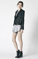 Ruby Sees All Angels Biker Jacket Black Foil