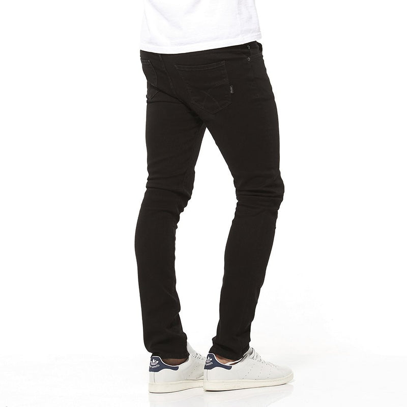 Riders By Lee R1 Skinny Stretch Black Jeans R/500151/602 A true skinny black jean, relaxed on the waist and fitted through the leg down to the ankle. Our R1 Skinny is relaxed on the waist and fitted through the leg down to the ankle in a classic black wash. A true skinny with street cred. Classic black wash in a solid  Famous Rock Shop Newcastle NSW Australia