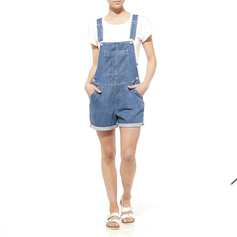 Riders By Lee Dungaree Short Rigid Gypsy Blue 551146