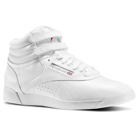 Reebok Freestyle Hi White Silver 2-2431