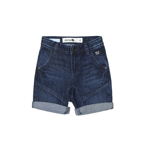 Riders By Lee Junior 3-7 YRS Kick Back Shorts Brushed Indigo R540006C24 Famous Rock Shop Newcastle, 2300 NSW. Australia.