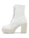 Roc Lush White Leather Boots