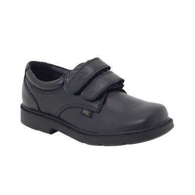 Roc Boots Jumungi Black Leather Velco Kids Shoe