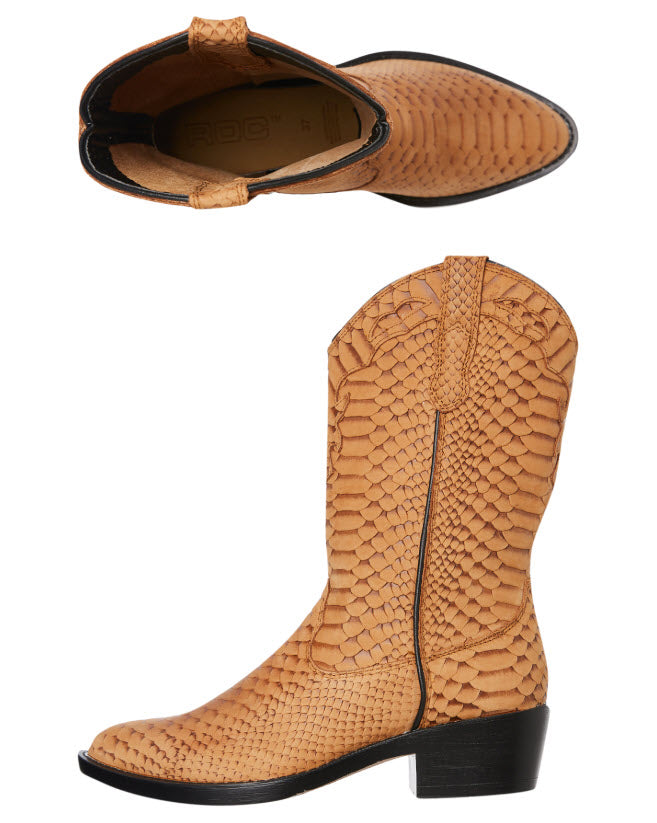 Roc Boots INDIO Tan Cobra Boot Famous Rock Shop Newcastle, 2300 NSW. Australia. 2
