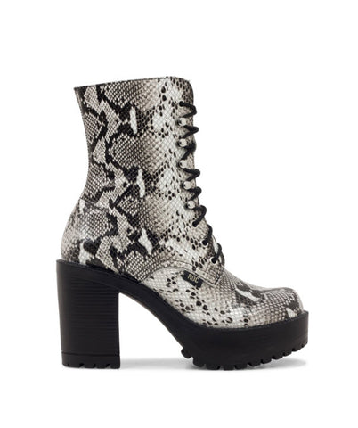 Roc Boots LUSH White Black Snake Boot Famous Rock Shop Newcastle, 2300 NSW. Australia. 1