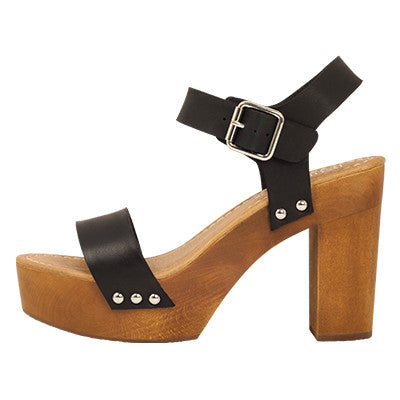 Roc Fleetwood Heels Black Leather