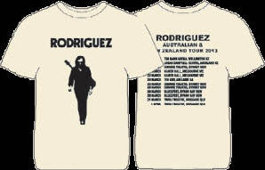 Rodriguez Official T-Shirt OZ & NZ 2013 Tour: Shadowman Cream T-Shirt
