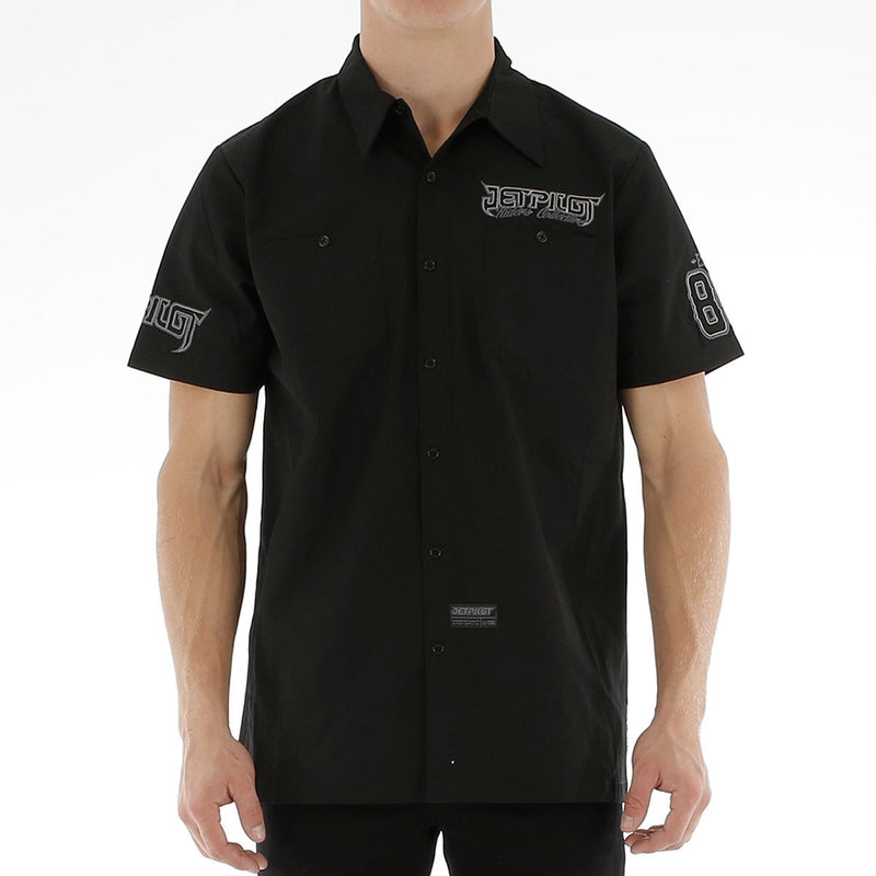 Jetpilot Collective Men's Black Work shirt Famous Rock Shop. 517 Hunter Street Newcastle, 2300 NSW Australia