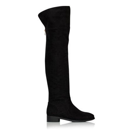 Billini Sera Black Vegan Suede Knee High Boots