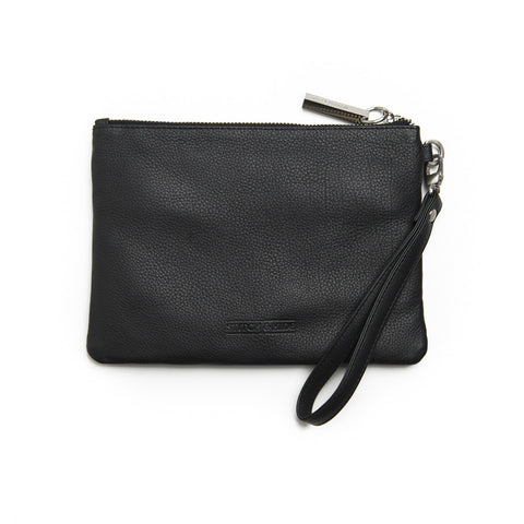 Stitch & Hide Cassie Clutch Black Leather