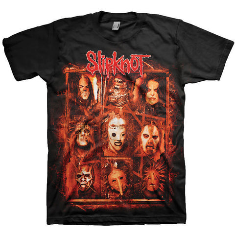 Slipknot Men's Tee: Rusty Face (Back Print) SKTS08MB S= UK 36-38 CM 92-97 M= UK 38-40 CM 97-102 L=UK 40-42 CM102-107 XL=UK 42-44 CM107-112 2XL=UK 44-46 CM112-117 Famous Rock Shop Newcastle 2300 NSW Australia