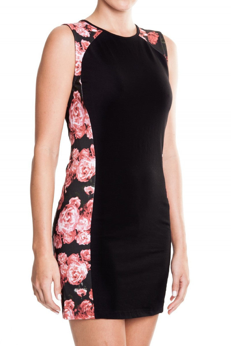 Mossimo Splice Dress with Flowers