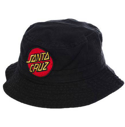 Santa Cruz Big Dot Bucket Hat - Black