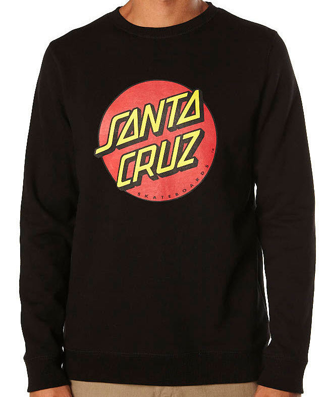 Santa Cruz Big Dot Crew Fleece Jumper Black 1130 Famous Rock Shop Newcastle 2300 NSW Australia