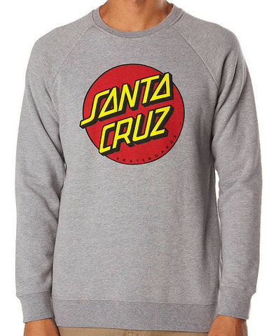 Santa Cruz Big Dot Crew Fleece Jumper Grey Heather