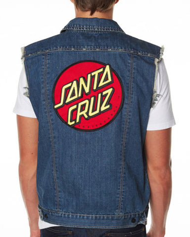 Santa Cruz Big Dot Denim Vest