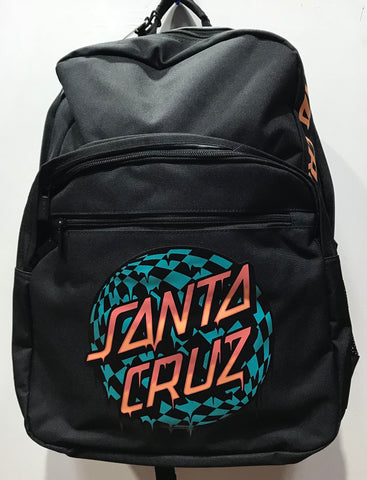 Santa Cruz Check Waste Dot Backpack Youth Black SC-YAD8149 Famous Rock Shop Newcastle 2300 NSW Australia