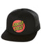 Santa Cruz Classic Dot Trucker Hat Black Black SC-MCN134 Famous Rock Shop Newcastle 2300 NSW Australia