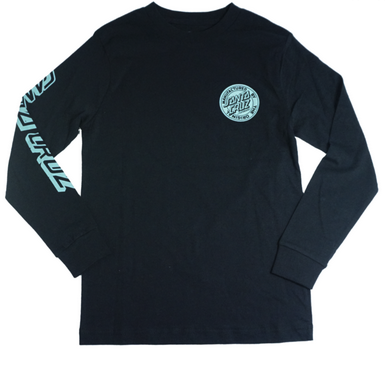 Santa Cruz Original Aqua Dot Fills Long Sleeve Tee Youth Black SC-YLD7056 Famous Rock Shop Newcastle, 2300 NSW Australia. 1