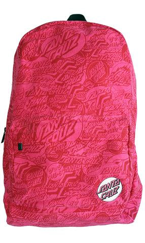 Santa Cruz Rouge Pink On Repeat Backpack-Youth SC-YAD7063 Santa Cruz Rouge Pink On Repeat Backpack-Youth Famous Rock Shop Newcastle 2300 NSW Australia