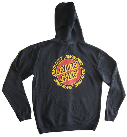Santa Cruz Ringed Dot Pop Hood Black SC MFA8806 Famous Rock Shop Newcastle 2300 NSW Australia