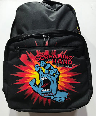 Santa Cruz Screaming Hand Back Pack Youth Black SC-YAD8148 Famous Rock Shop Newcastle 2300 NSW Australia