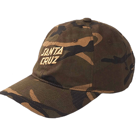 Santa Cruz Street Slant Dad Cap Camo SCMCD8042 Famous Rock Shop Newcastle 2300 NSW Australia