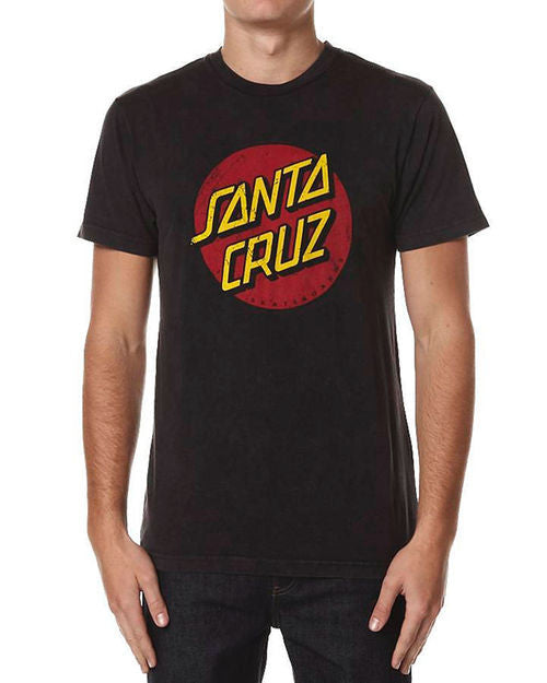Santa Cruz Vintage Dot Acid Tee Black W15SCT1286 Famous Rock Shop Newcastle 2300 NSW Australia