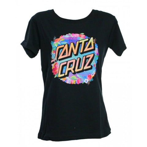 Santa Cruz Water Dot Tee Black SC-WTC7353
