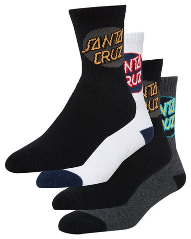 Santa Cruz Youth Pop Sock 4 Pack Multi SC-YZD8189 Famous Rock Shop Newcastle, 2300 NSW. Australia. 1