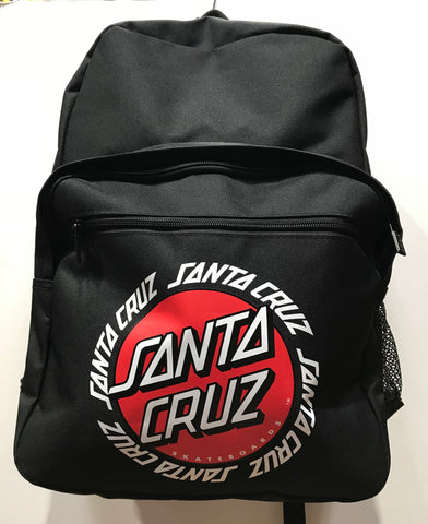 Santa Cruz ringed dot back pack black SC MAA8844 3BL Famous Rock Shop Newcastle 2300 NSW Australia