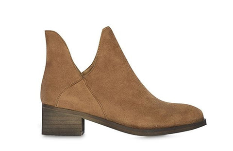 Billie Sinclair Tan Vegan Suede Boots