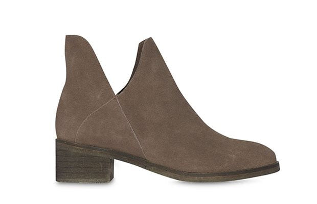 Billie Sinclair Taupe Vegan Suede Boots