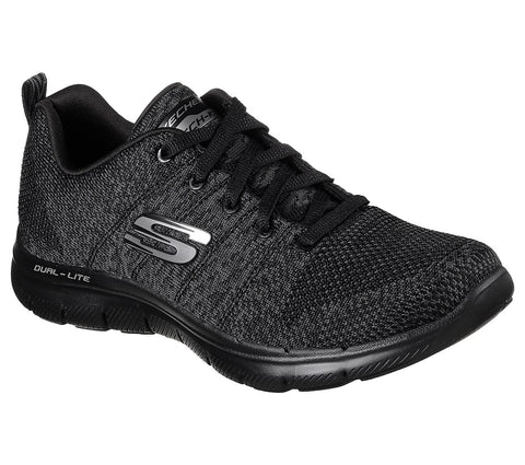 Skechers Flex Appeal 2.0 High Energy Black/Charcoal 12756