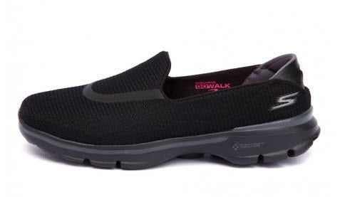 skechers black walking shoes. skechers go walk 3 black with sole walking shoes t