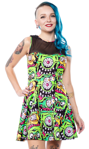 Sourpuss Fink Faces Mary Lu Monster Dress
