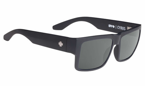 Spy Cyrus Soft Matte Black Happy Grey Green Polar 673180973864