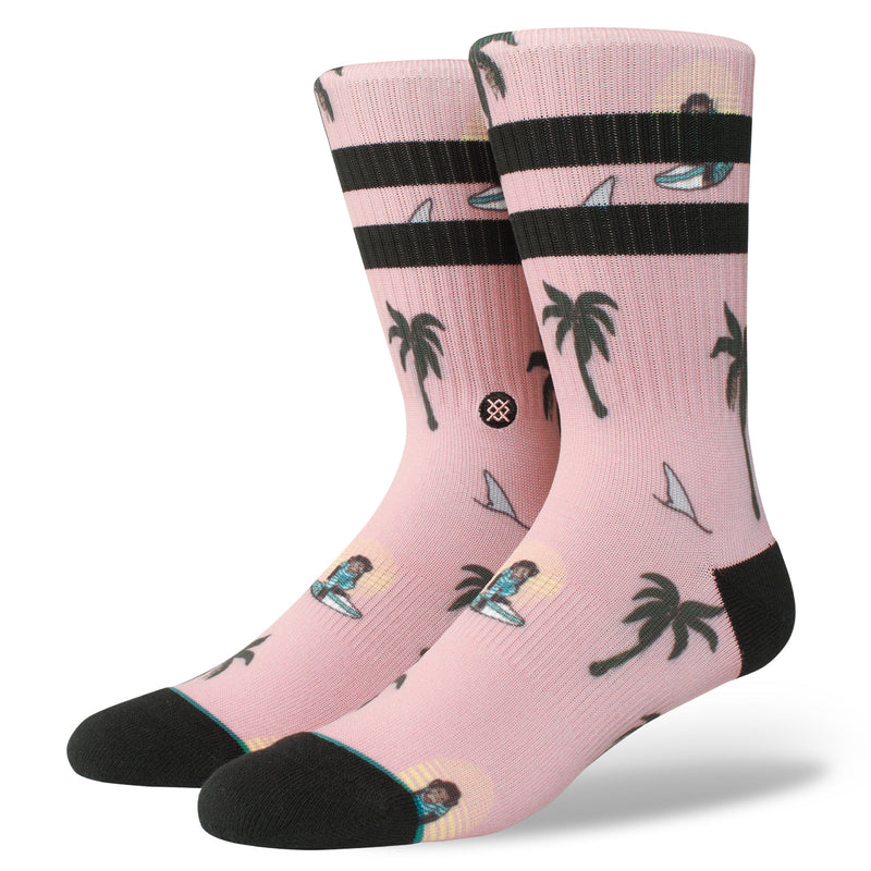 Stance Classic Crew Surfin Sunsets Monkey Socks