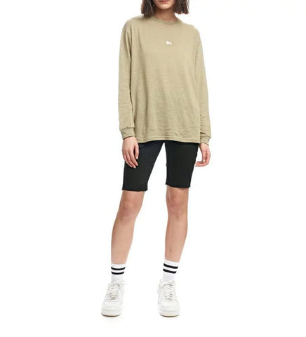 Stussy Graffiti Linen Long Sleeve Tee Mushroom ST191001. Famous Rock Shop Newcastle, 2300 NSW. Australia. 1
