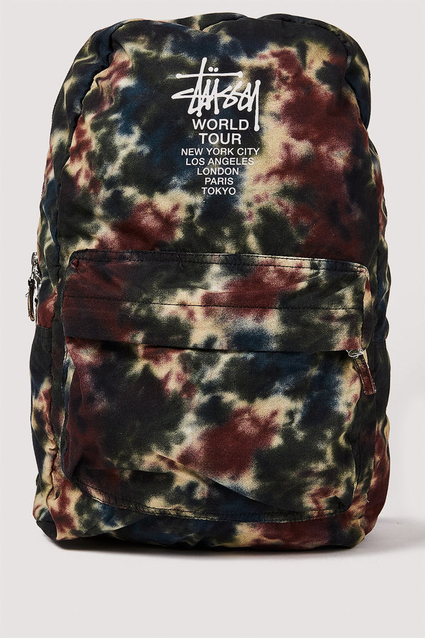 Stussy World Tour Tiedye Multi Camo Backpack