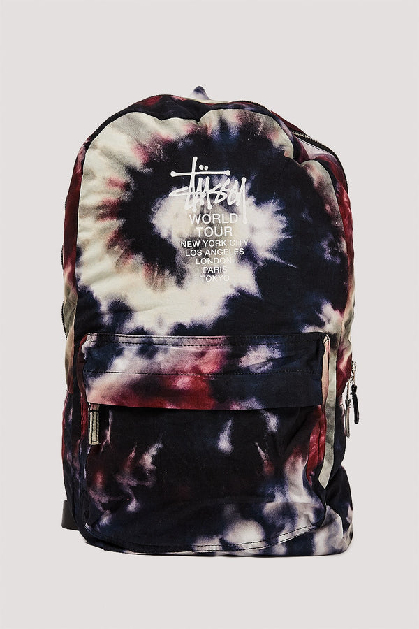 Stussy World Tour Tiedye Multi Coloured Backpack