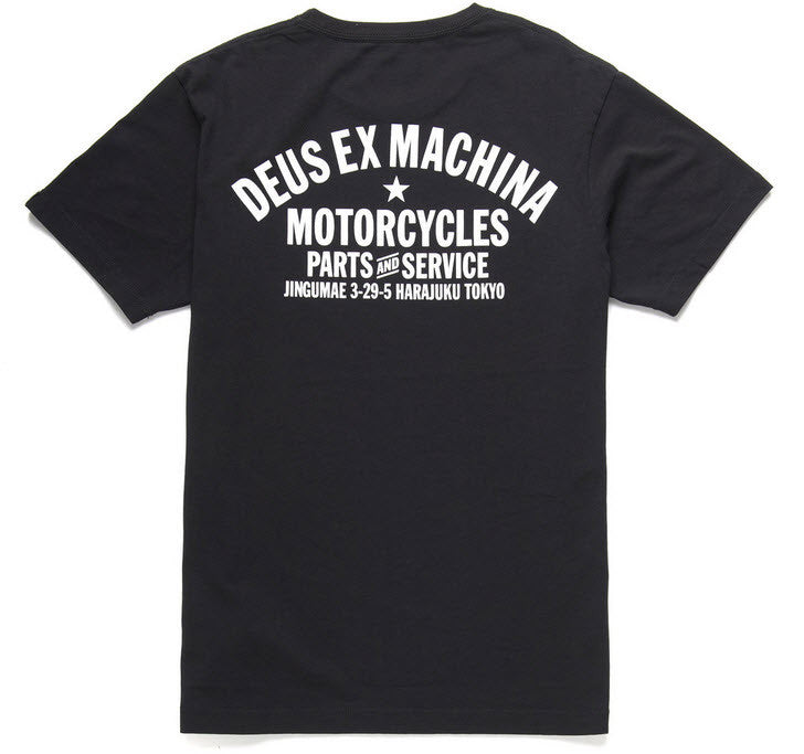 Part of the Deus Ex Machina Classics collection. A standard-fit Deus Tokyo Address tee, constructed from 20/1s 190gsm cotton jersey. Famous Rock Shop Newcastle 2300 NSW Australia