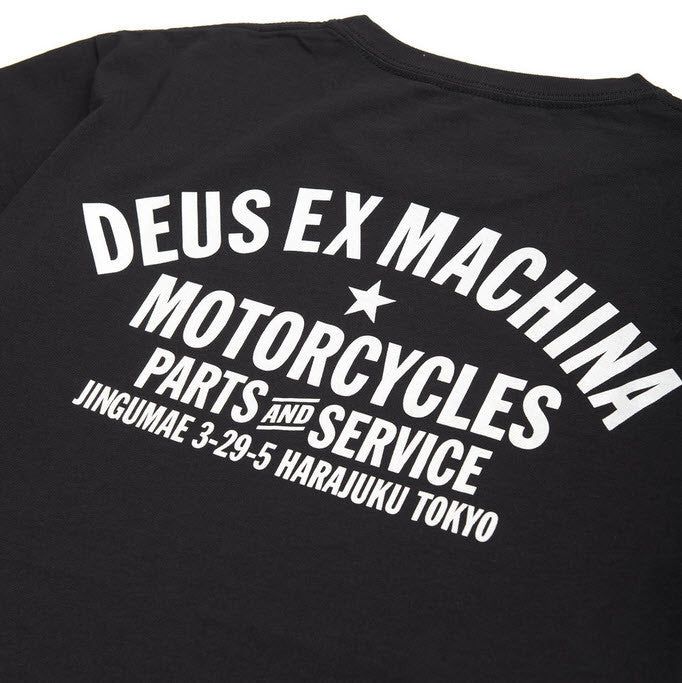 Part of the Deus Ex Machina Classics collection A standard-fit Deus Tokyo Address tee, constructed from 20/1s 190gsm cotton jersey Famous Rock Shop Newcastle 2300 NSW Australia
