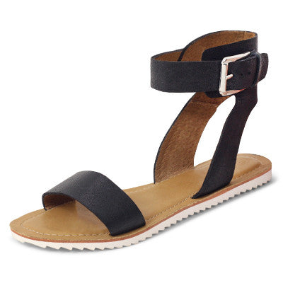 Roc Trieste Black Leather Sandals