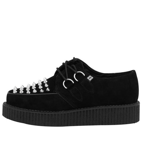 T.U.K Spike Black Suede Creeper A8360