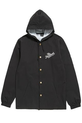The Hundreds Forever Slant Hooded Coach's Jacket Jet Black