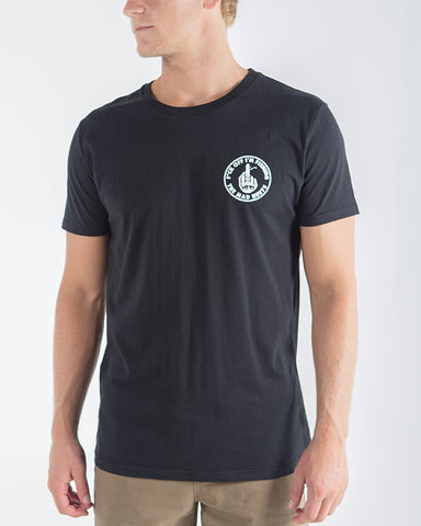 The Mad Huey FUCK off im fishing short sleeve Tee black H419M01006 Famous Rock S hop Newcastle 2300 NSW Australia