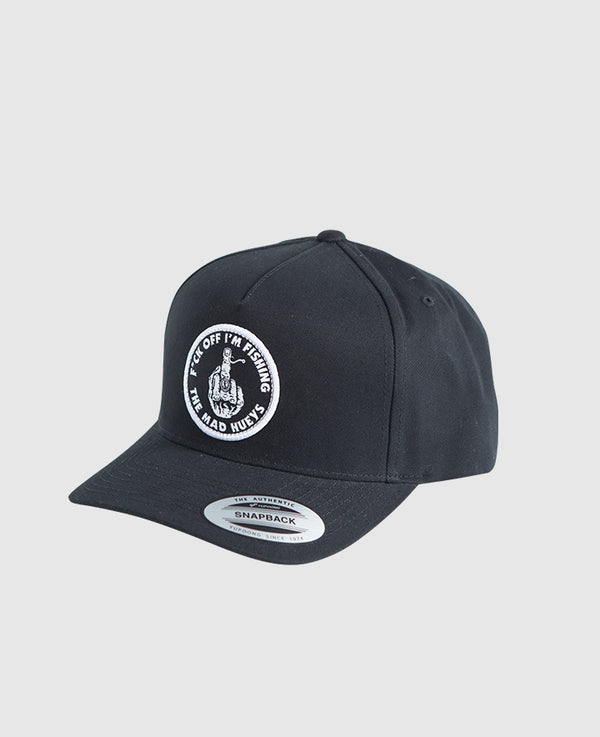 The Mad Hueys FUCK off Im Fishing Twill Trucker Cap Black H419M06002 Famous Rock Shop Newcastle NSW Australia. 1